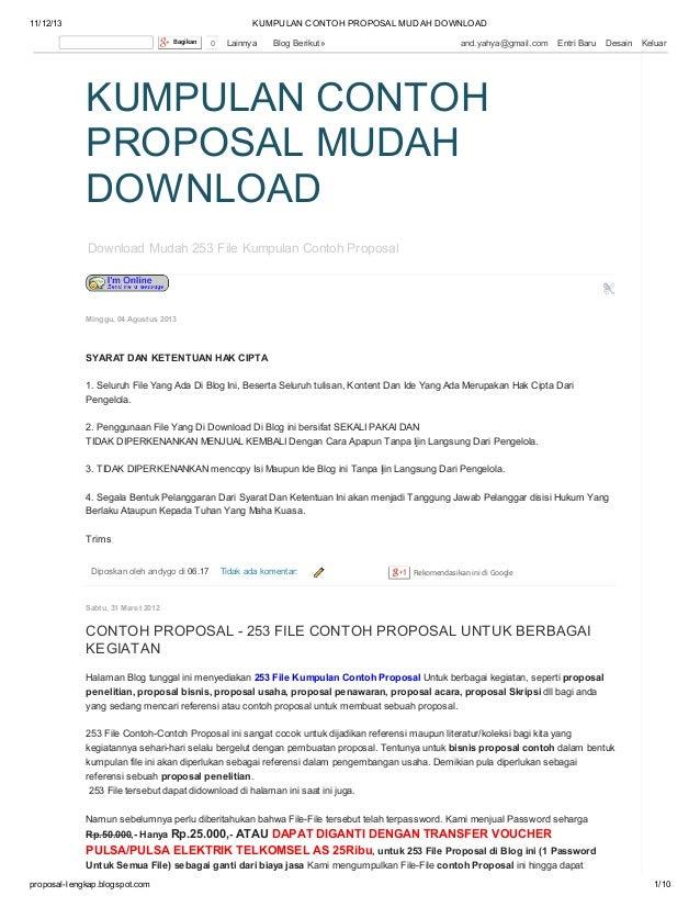 Contoh Proposal Lengkap Pdf - Contoh Proposal Skripsi ...