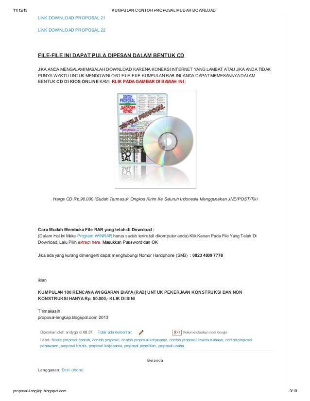 Kumpulan Contoh Proposal Mudah Download   Kumpulan Foto Cantik