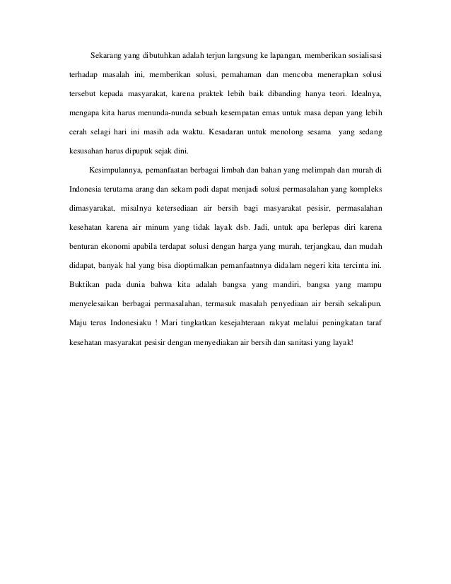 Kumpulan Karya Tulis Pemenang Lomba Penulisan Konperensi Sanitasi Dan