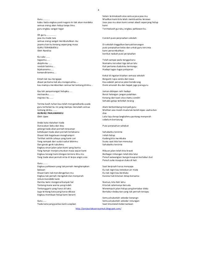 Kumpulan Puisi Perpisahan Terbaru