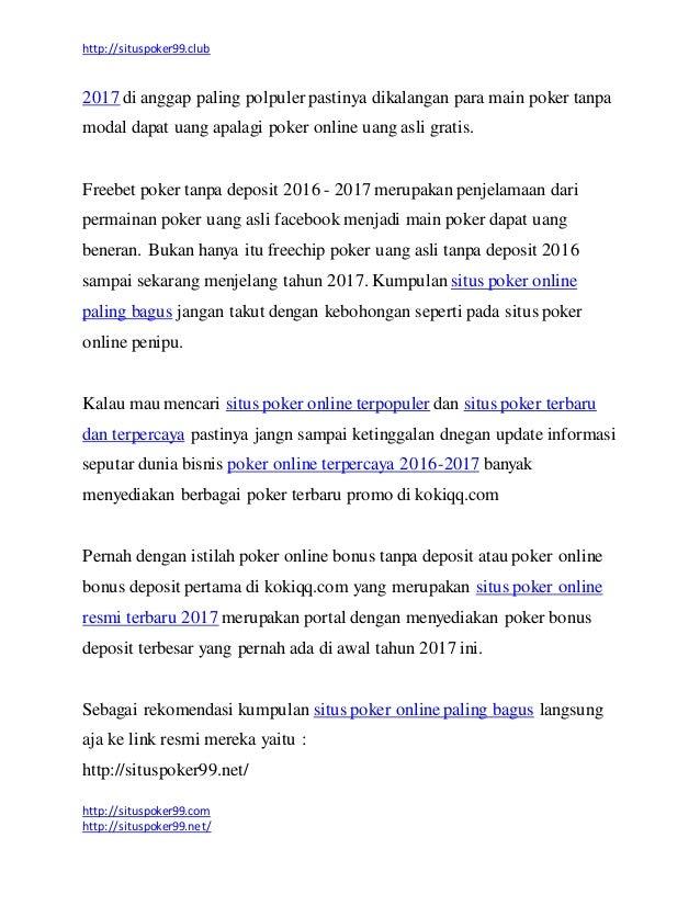Kumpulan Situs Poker Online Resmi Terbaru Paling Bagus 2017 Tanpa Pen