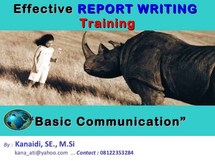 Effective REPORT WRITING Training