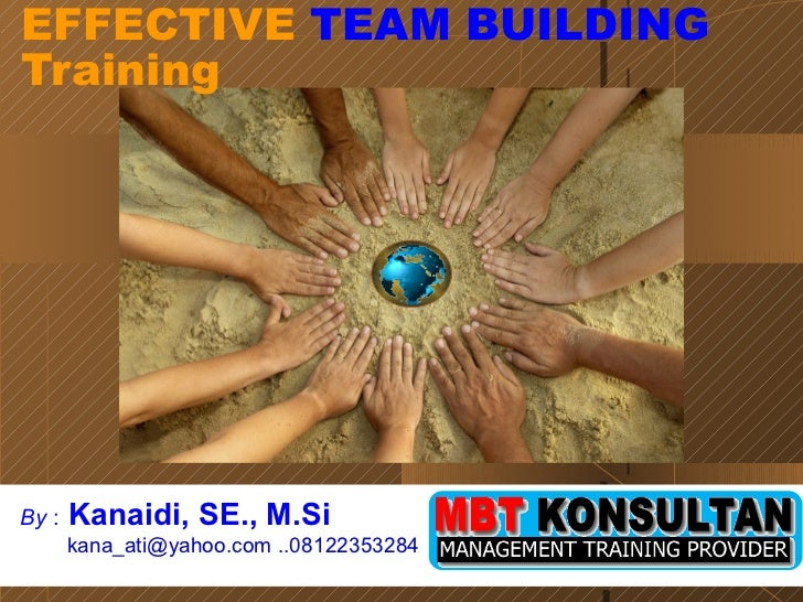 EFFECTIVE  TEAM  BUILDING Training By  :   Kanaidi, SE., M.Si  kana_ati@yahoo.com ..08122353284