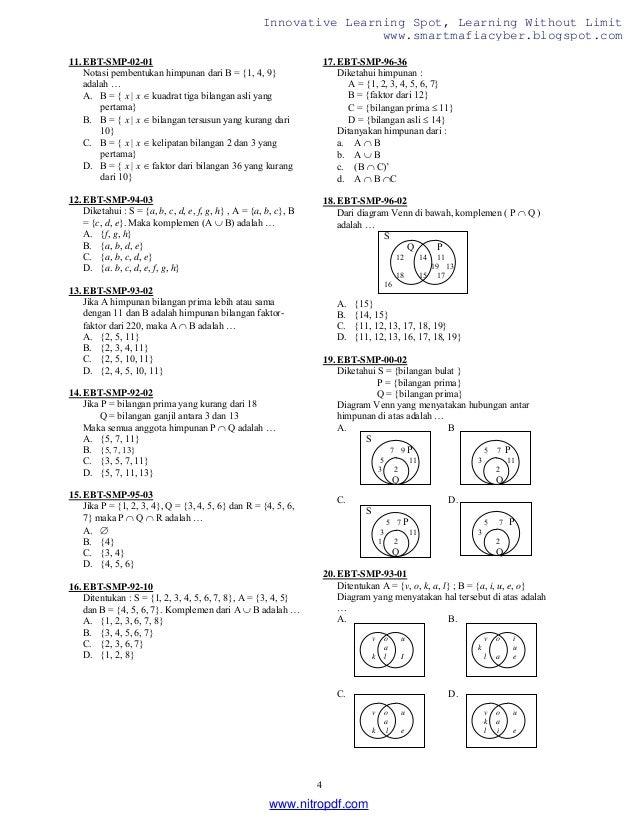 Kumpulan soal soal pilihan matematika smp lkp 4 ccuart Gallery