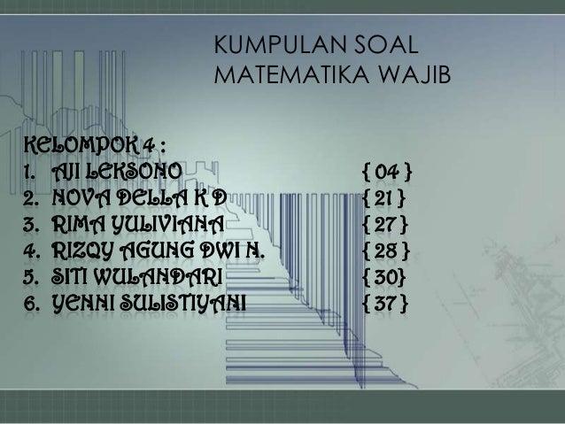 Kumpulan Soal Matematika Wajib