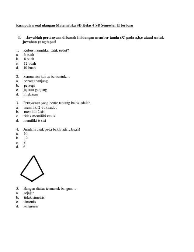 Contoh Soal Sd Tentang Pecahan Soal Matematika Sd Kelas