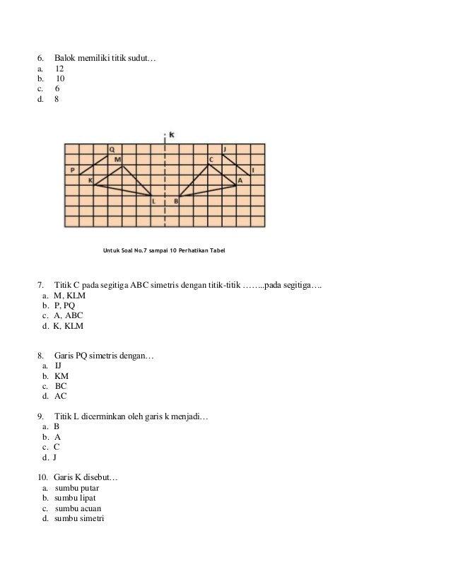 Kumpulan Soal Ulangan Matematika Sd Kelas 4 Sd Semester Ii Terbaru