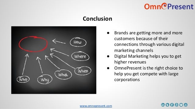www.omnepresent.com Conclusion ● Brands are getting more and more customers because of their connections through various d...
