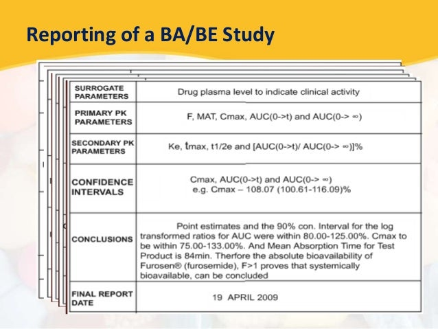 Bioavailability and bioequivalence studies reporting of a babe study fandeluxe Gallery