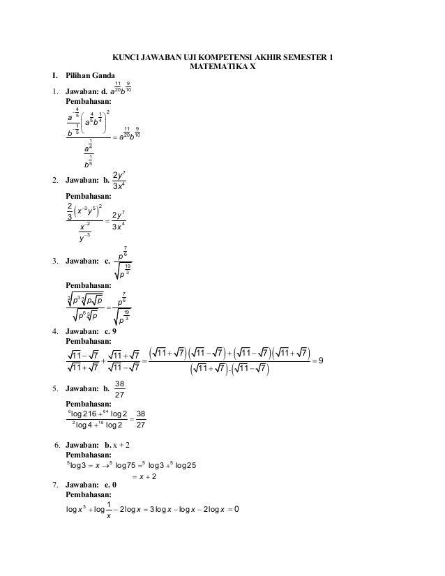 Kumpulan Soal Matematika Kelas 6 Beserta Pembahasannya