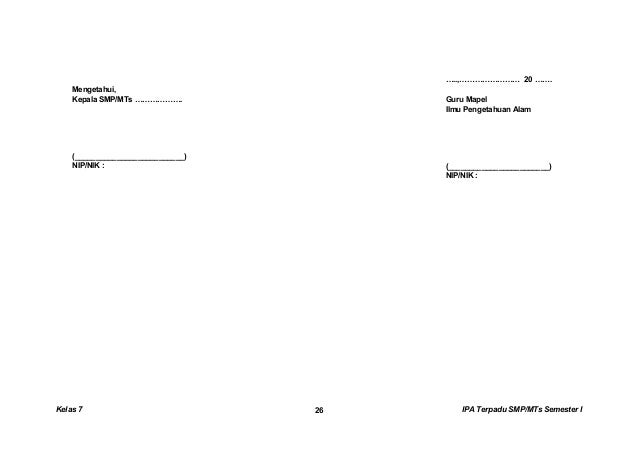 RENCANA PELAKSANAAN PEMBELAJARAN (RPP) SEKOLAH : SMP MAPEL : IPA (Ilmu Pengetahuan Alam) KELAS /SMT : VII (Tujuh)/Semester...
