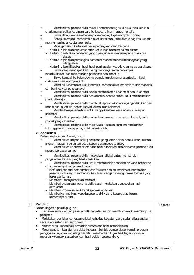 Kunci Dan Perangkat Ips Terpadu Smp Kelas 7