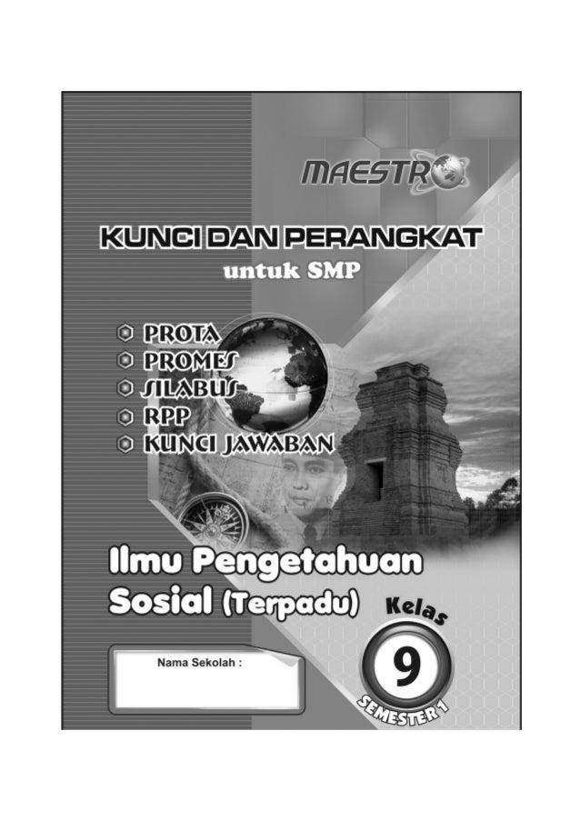 Kunci Dan Perangkat Ips Terpadu Smp Kelas 9