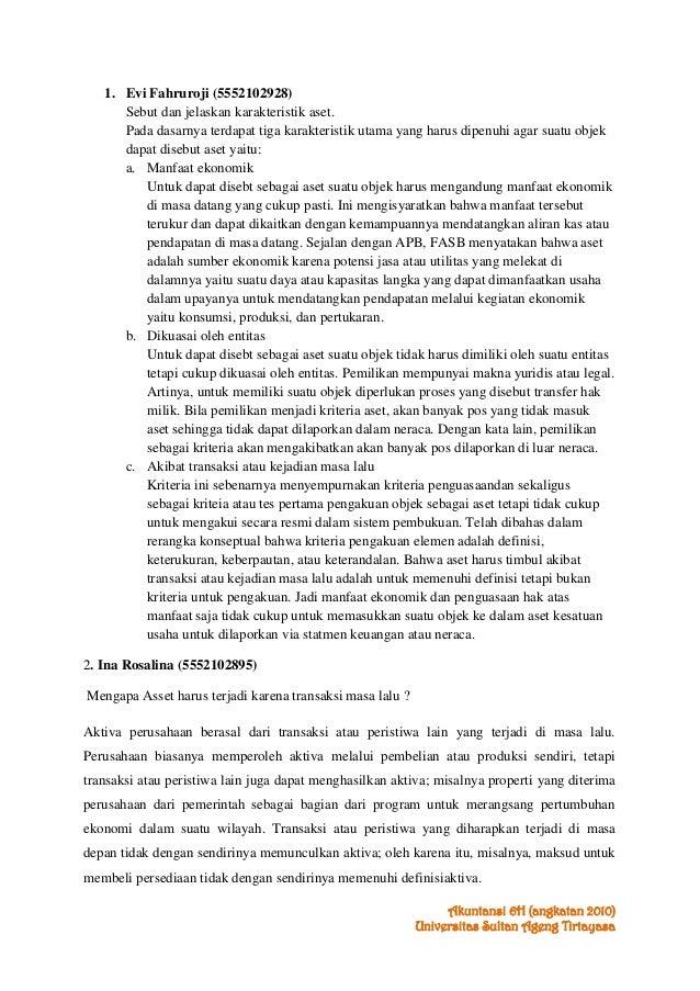 Kunci Jawaban Bab 6 Teori Akuntansi