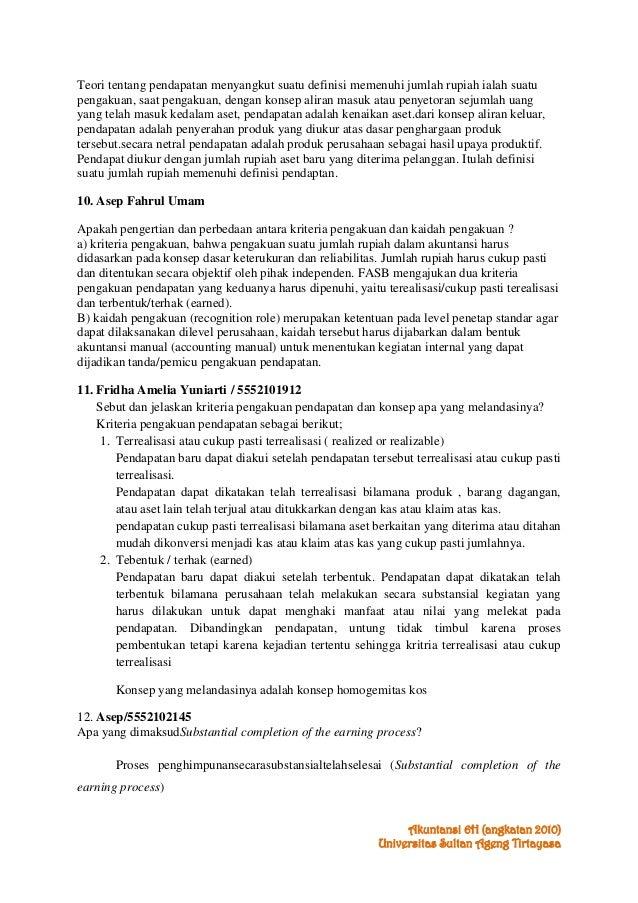 Kunci Jawaban Bab 8 Pendapatan Teori Akuntansi Suwardjono