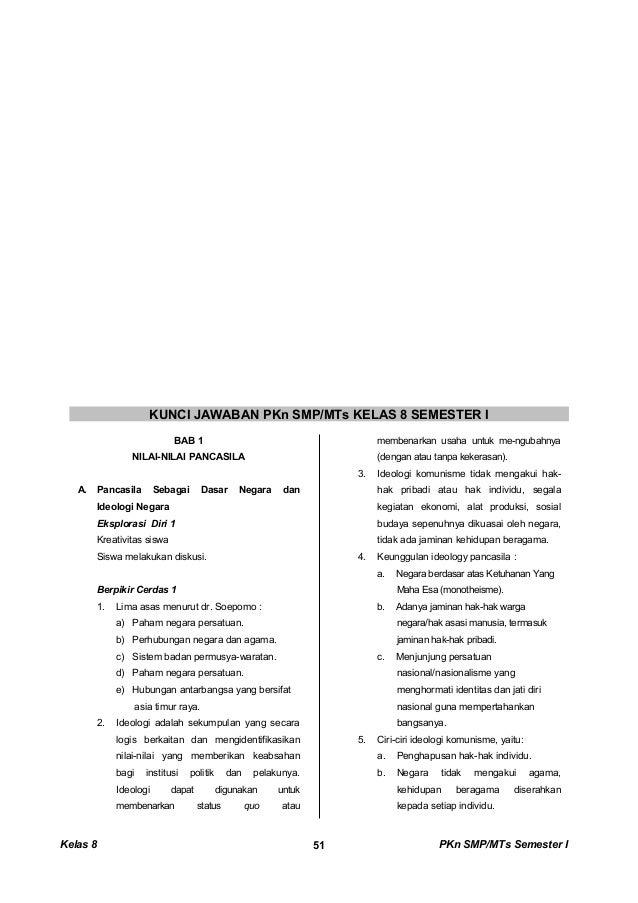 Kunci Dan Perangkat Pkn Smp Kelas 8