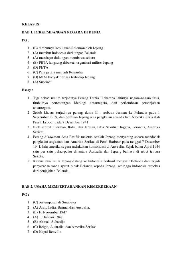Kumpulan Materi Pelajaran Dan Contoh Soal 10 Contoh Soal Hots Ips Smp Kelas 9 Semester 1