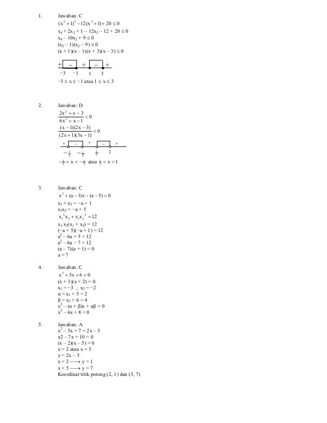 Copyright ©www.ujian.org all right reserved Solusi Latihan Soal UN SMA / MA 2011 Program IPS Mata Ujian : Matematika Jumla...