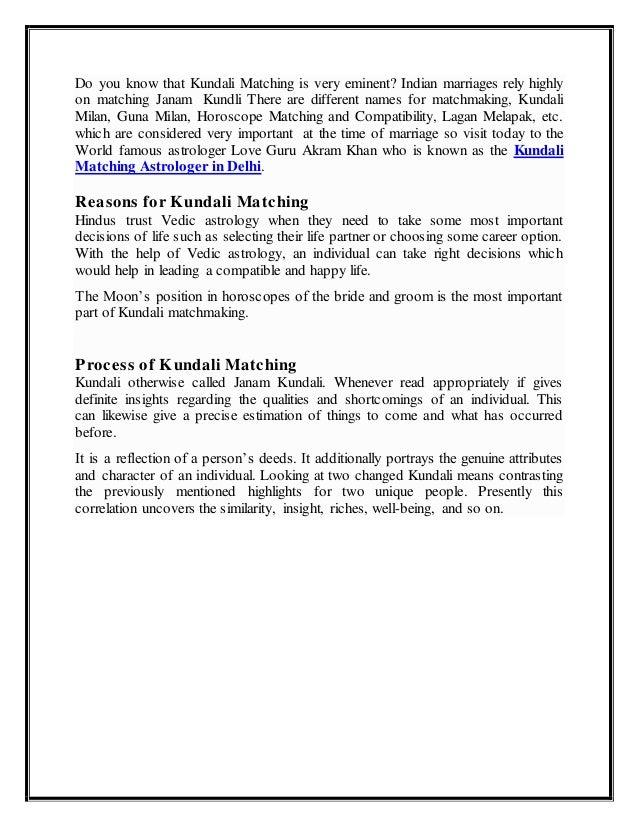 Vedic kundali matchmaking