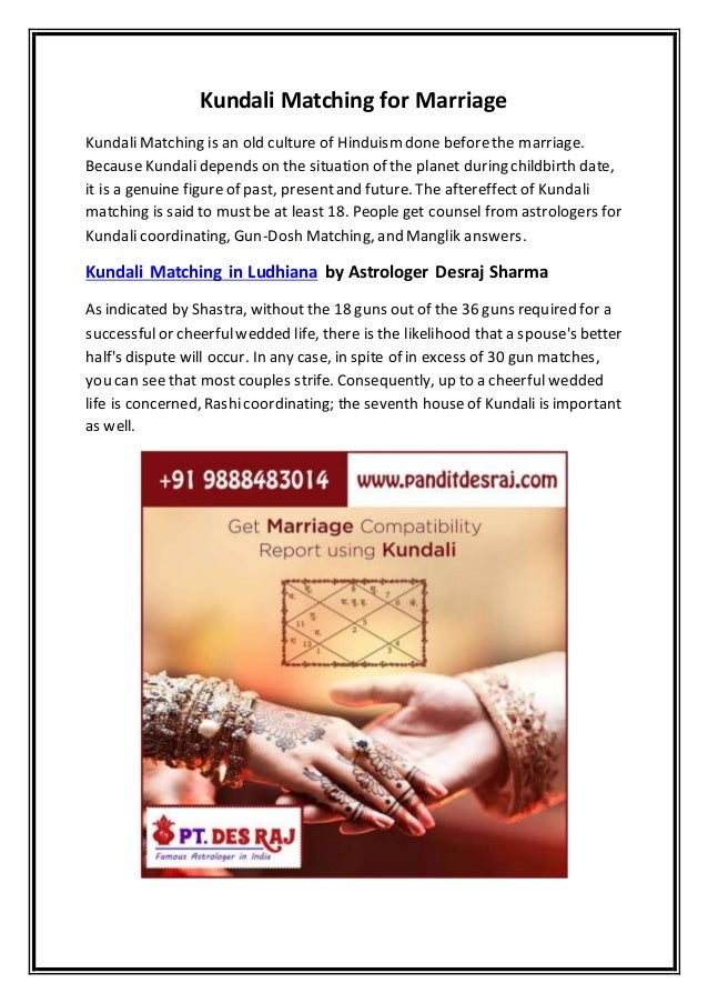Hinduisk astrologi match gör
