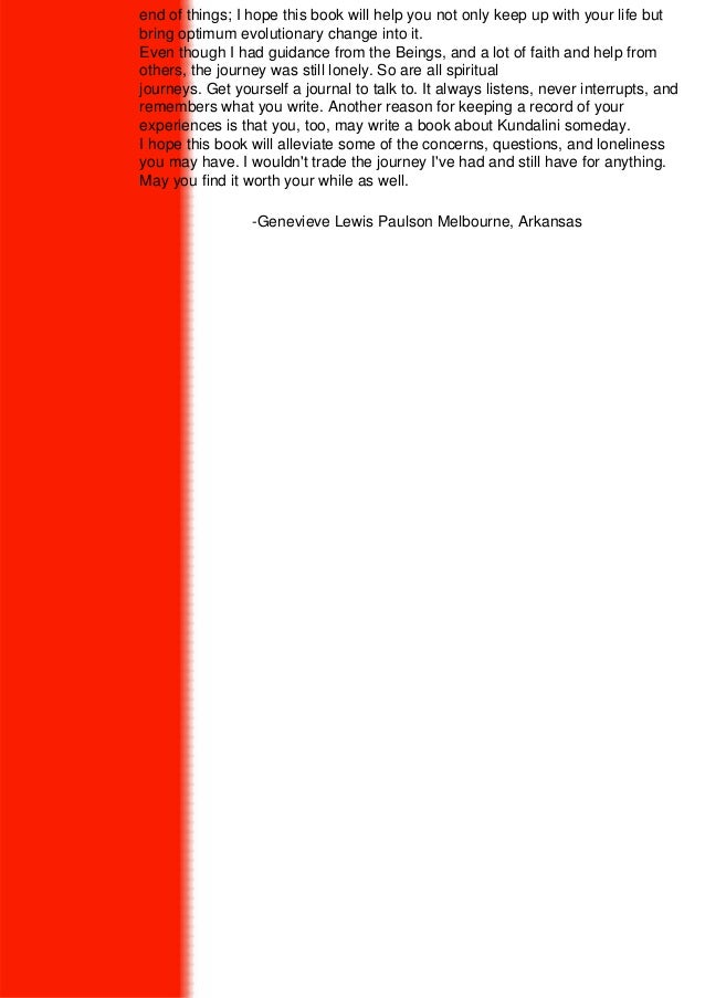Kundalini And The Chakras : Genevieve Lewis Paulson Slide 3
