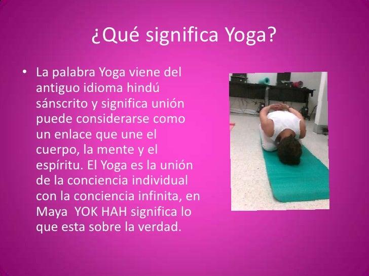 q significa yoga