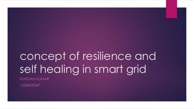 concept of resilience and self healing in smart grid KUNDAN KUMAR 12EBKEE047