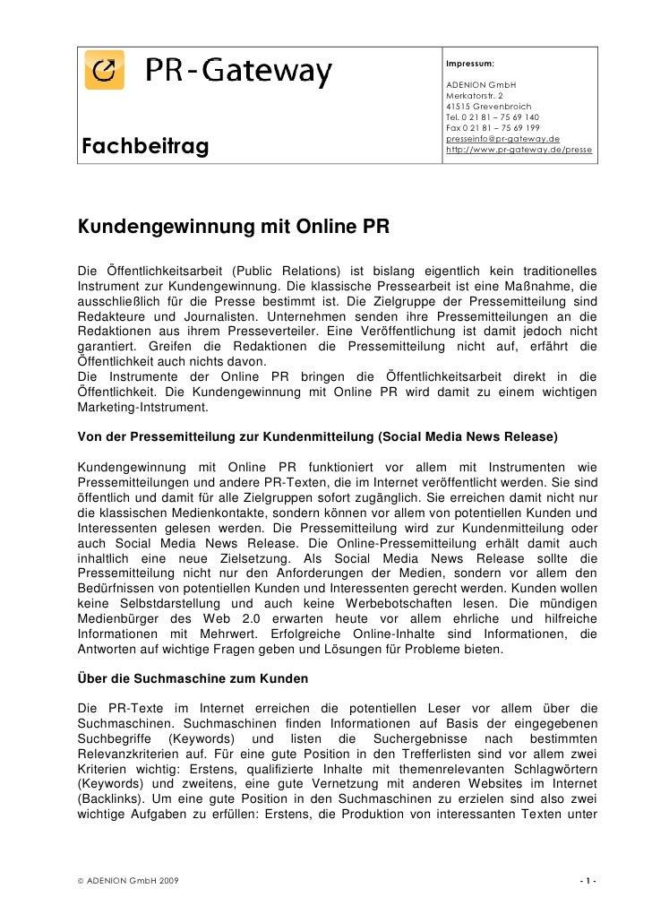 Impressum:                                                                 ADENION GmbH                                   ...