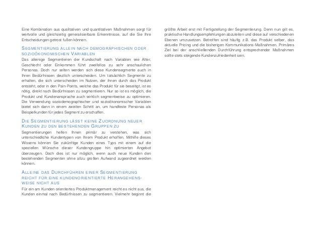Kundensegmentierung im Produktmanagement  Slide 3