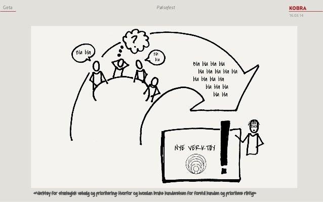 Geta Pølsefest 16.03.14 «Verktøy for strategisk veivalg og prioritering: Hvorfor og hvordan bruke kundereisen for forstå k...