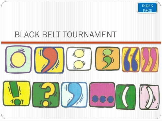 INDEX PAGE  BLACK BELT TOURNAMENT