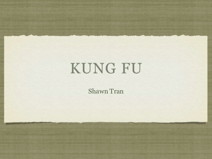 KUNG FU Shawn Tran