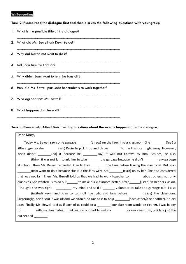 English In Italian: Kungshen English Book 6 Lesson 3 02 Dialogue