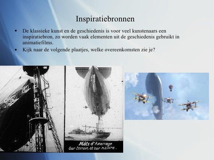Inspiratiebronnen <ul><li>De klassieke kunst en de geschiedenis is voor veel kunstenaars een inspiratiebron, zo worden vaa...