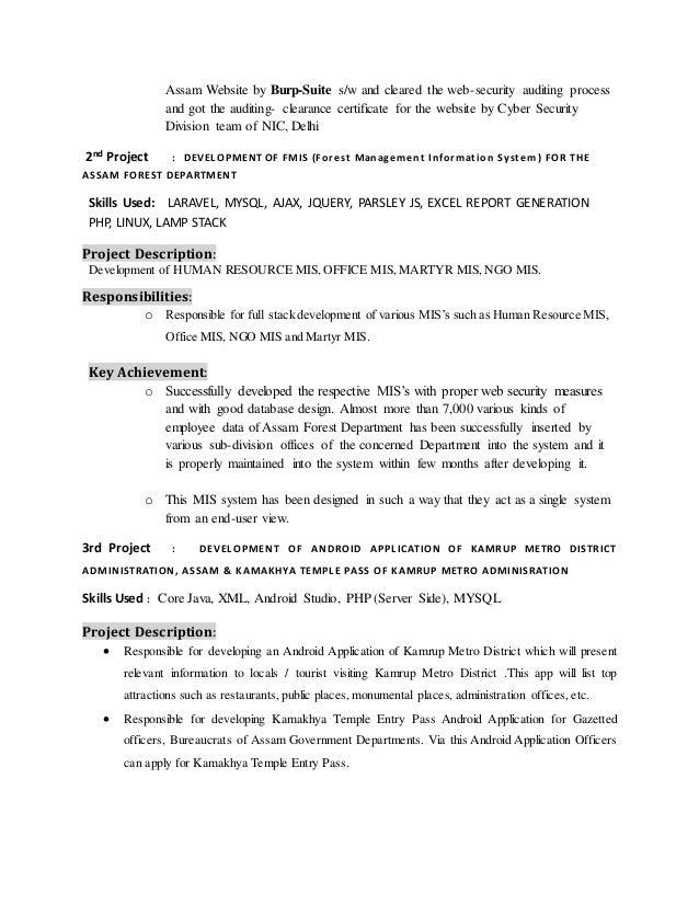 Kuntal deb-resume-mca-2years-above-work-experience
