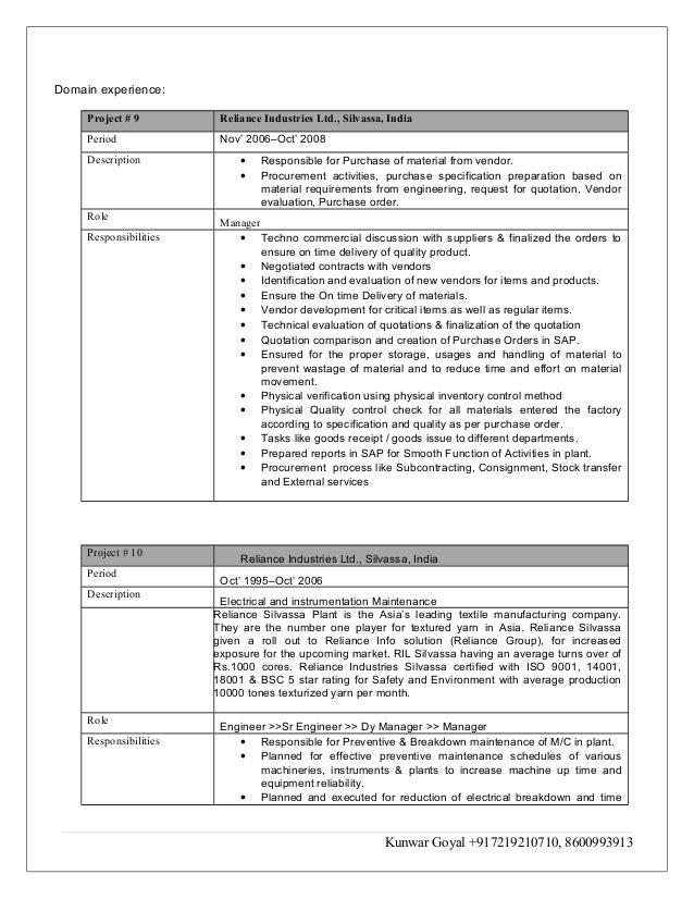 Resume Sap Consultant