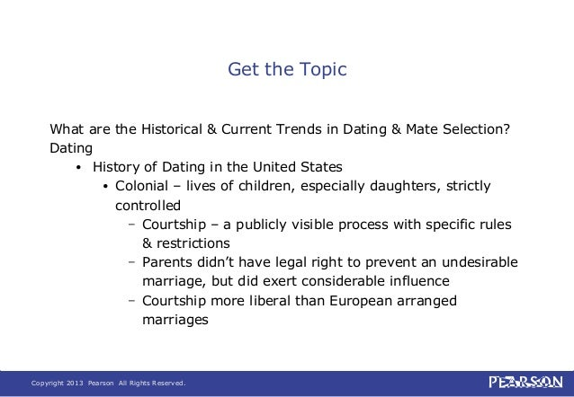 Current dating trends in the united states