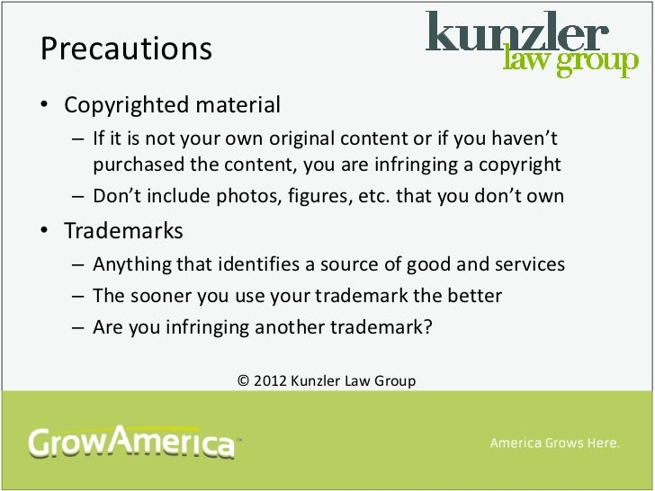 Precautions• Copyrighted material  – If it is not your own original content or if you haven't    purchased the content, yo...