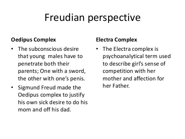 """freud the oedipus complex essay His essay """"kafka's fantasy of punishment"""" that these aggressive acts can only   depiction of some freudian theories such as oedipus complex."""