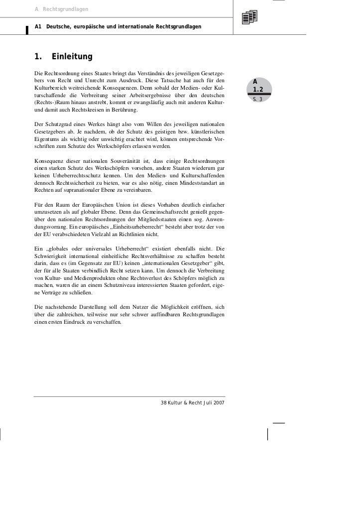A RechtsgrundlagenA1 Deutsche, europäische und internationale Rechtsgrundlagen1.     EinleitungDie Rechtsordnung eines Sta...