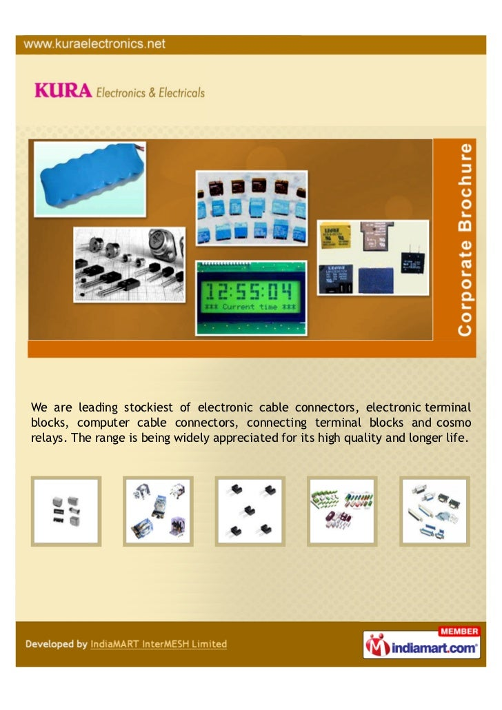 We are leading stockiest of electronic cable connectors, electronic terminalblocks, computer cable connectors, connecting ...