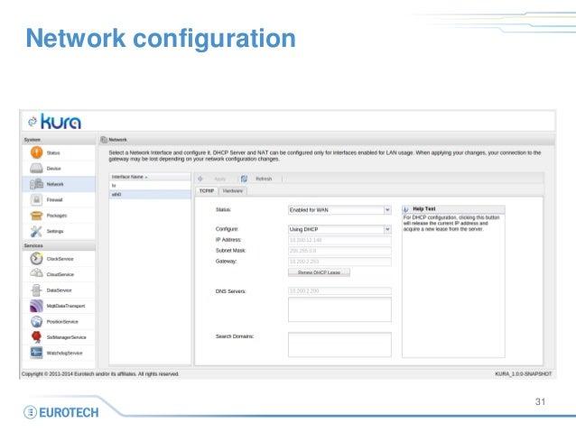 Network configuration  31