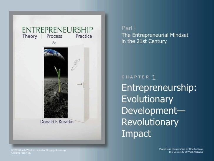 Part I                                                    The Entrepreneurial Mindset                                     ...