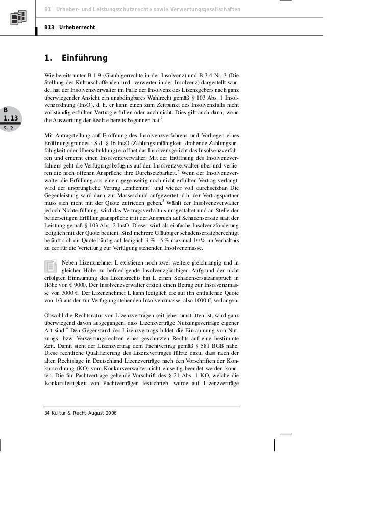 Graef: Insolvenz des Lizenzgebers – Lösungsansätze aus der Praxis Slide 2