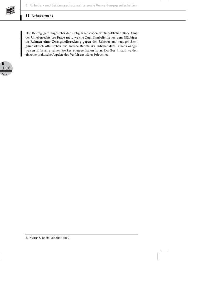 Hendricks: Die Rechte des Urhebers in der Zwangsvollstreckung Slide 2