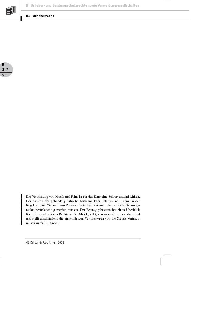 Gerber, Starke: Rechtliche Fragen der Filmmusik Slide 2