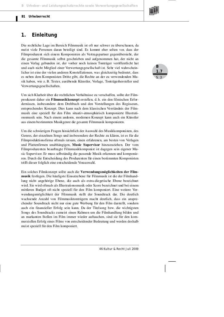 Gerber, Starke: Rechtliche Fragen der Filmmusik Slide 3