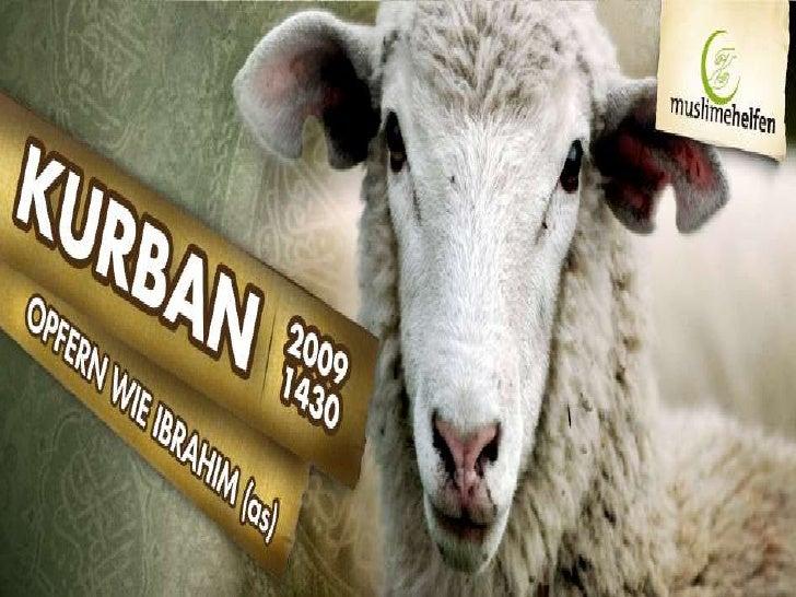 Kurban- Opfern wie Ibrahim (as) 2009