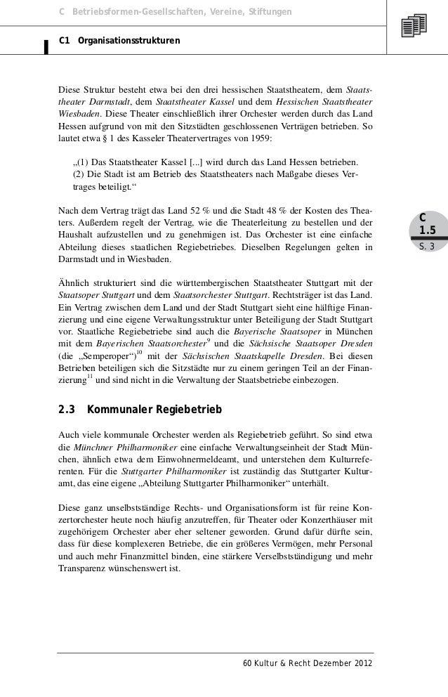 C Betriebsformen-Gesellschaften, Vereine, StiftungenC1 OrganisationsstrukturenDiese Struktur besteht etwa bei den drei hes...