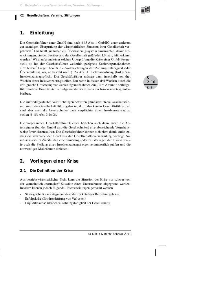 C Betriebsformen-Gesellschaften, Vereine, StiftungenC2 Gesellschaften, Vereine, Stiftungen1.      EinleitungDie Geschäftsf...